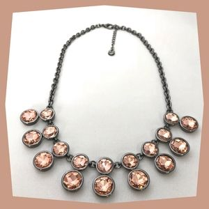 Loft Statement Necklace with Rose Crystals